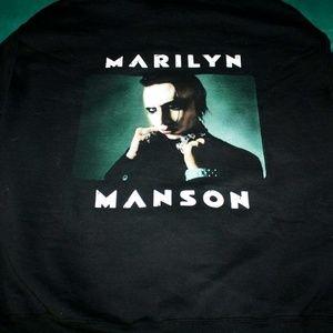 Marilyn Manson Vintage Style L Hoodie Pale Emperor